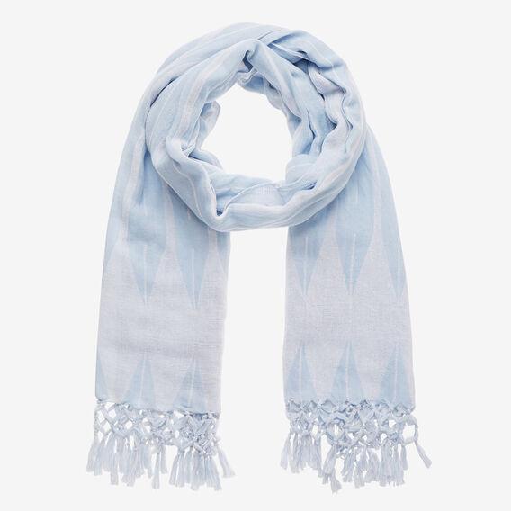 Knot Tassel Trim Scarf  DUTCH BLUE  hi-res