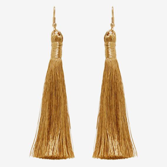 Fine Tassel Earrings  GOLD  hi-res
