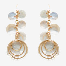 Layered Shell Earrings  GOLD  hi-res