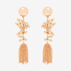 Ball Chain Earrings  GOLD  hi-res
