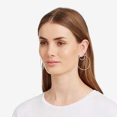 Double Ring Earrings  SILVER  hi-res