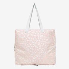 Foldaway Tote Bag  PINK/SILVER  hi-res