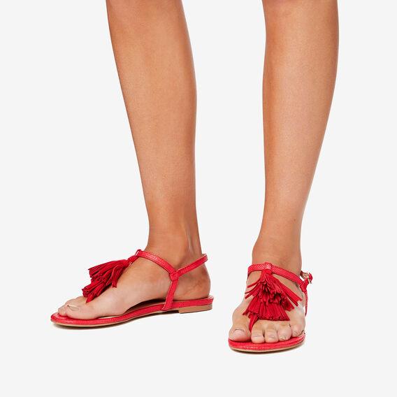 Madison Tassel Sandal  ROYAL RED  hi-res