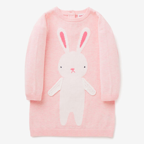 Bunny Knit Dress  ICE PINK MARLE  hi-res