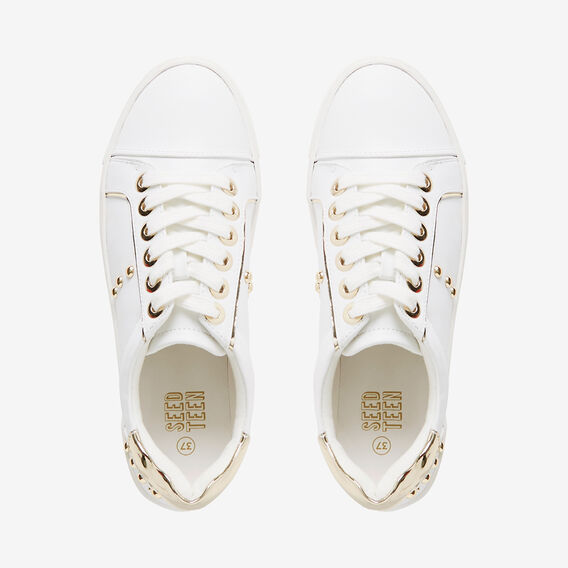 Gold Stud Runner  WHITE  hi-res