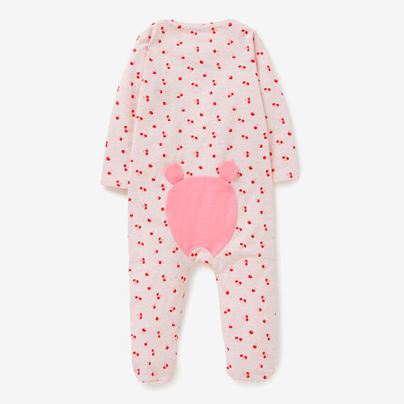 Cherry Yardage Zipsuit  ICE PINK MARLE  hi-res