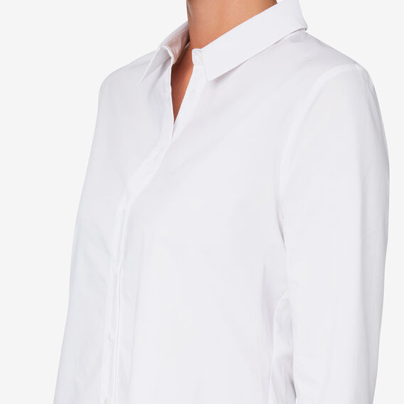 Simple Cotton Shirt  WHISPER WHITE  hi-res