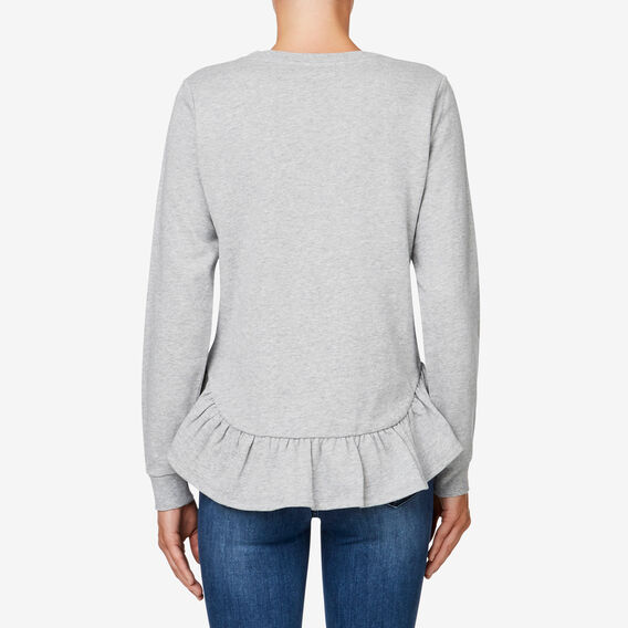 Frill Hem Sweat  MID GREY MARLE  hi-res