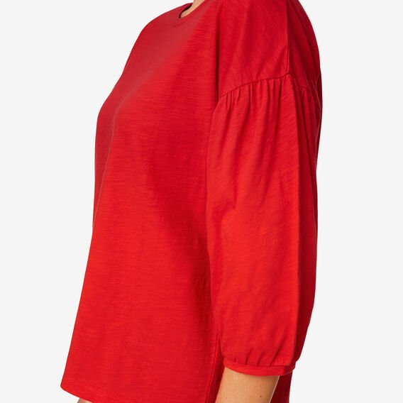 Boxy Blouson Sleeve Top  BOLD RED  hi-res