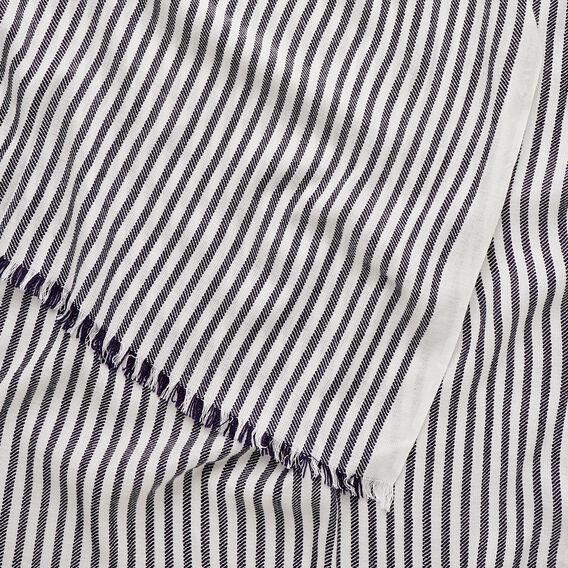 Stripe Texture Scarf  INK BLUE/ CANVAS  hi-res