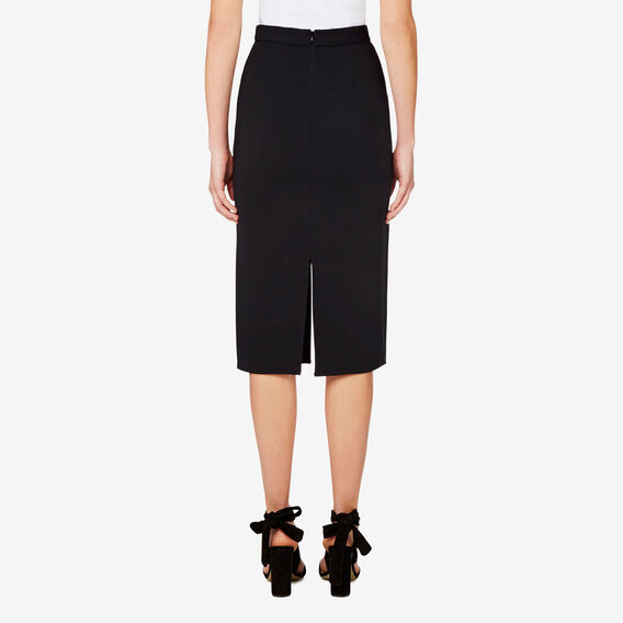 Pencil Split Skirt  BLACK  hi-res