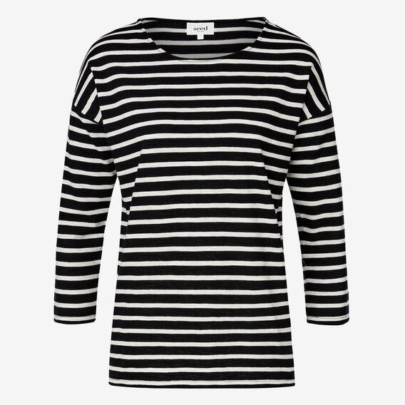 Easy Stripe Tee  BLACK/WHITE STRIPE  hi-res