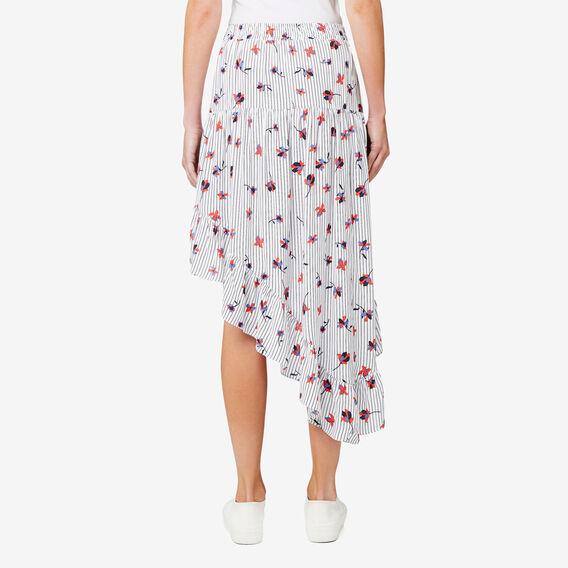 Floral Asymmetric Skirt  SPLICE FLORAL  hi-res