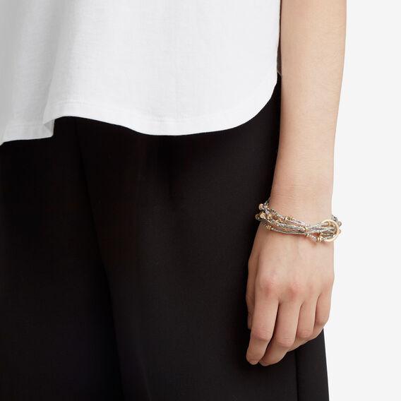 Stretch Bead Bracelet  SILVER  hi-res