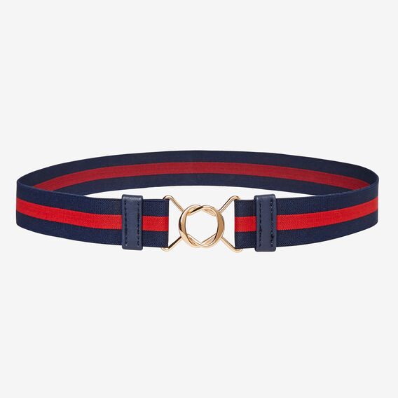 Lucy Elastic Belt  NAVY/RED  hi-res
