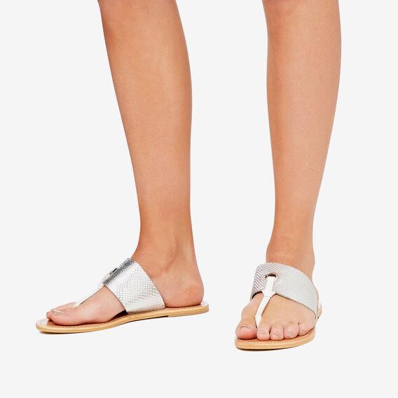Cassie T-Bar Sandal  SILVER EMBOSSED  hi-res