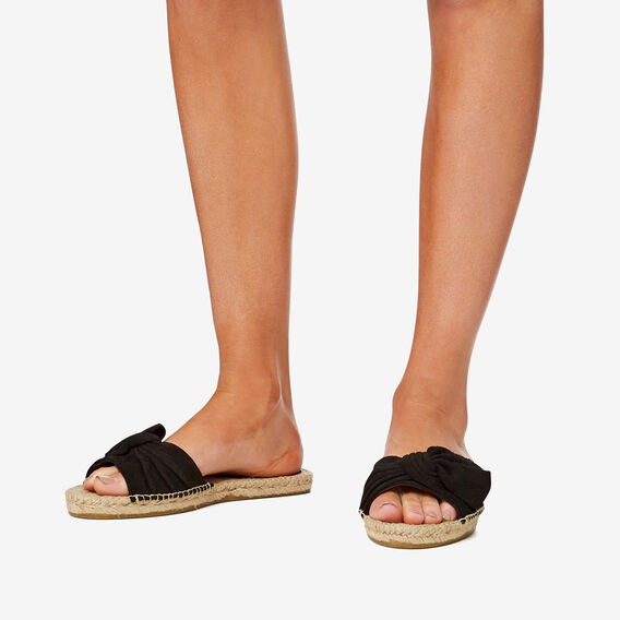Holly Bow Espadrille  BLACK  hi-res