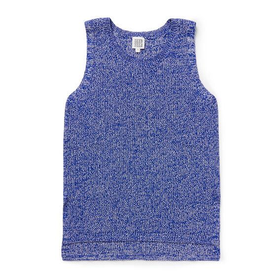 Sleeveless Knit  COBALT  hi-res