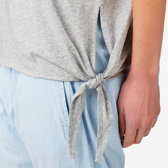 Asymmetrical Tie Tee  MID GREY MARLE  hi-res