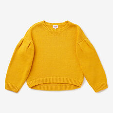 Pleat Sleeve Sweater  SUNFLOWER  hi-res