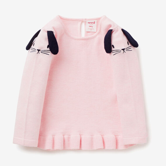 Bunny Frill Sweater  ICE PINK MARLE  hi-res