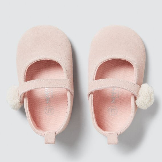 Pink Suede Mary Janes  PINK  hi-res