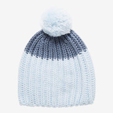 Chunky Knit Beanie  PACIFIC BLUE MARLE  hi-res