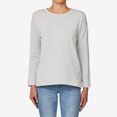 Metallic Fleck Sweater  LIGHT GREY MARLE  hi-res