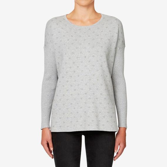 Lurex Spot Sweater  MID GREY MARLE  hi-res