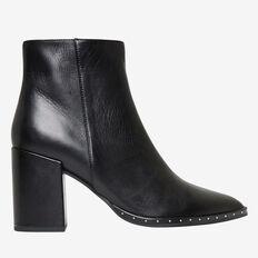 Athena Studded Heel Boot  BLACK  hi-res