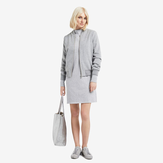 Terry Sweater Dress  MID GREY MARLE  hi-res
