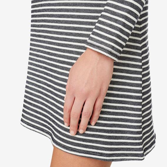 V Neck Long Sleeve Dress  STRIPE  hi-res
