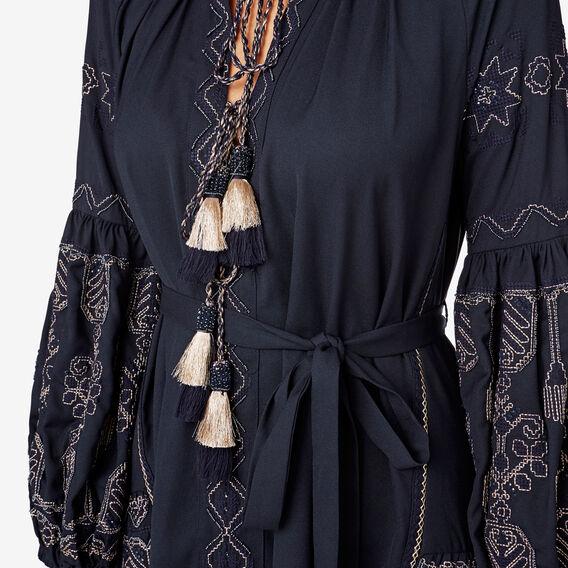 Embellished Kaftan Dress  INK BLUE  hi-res