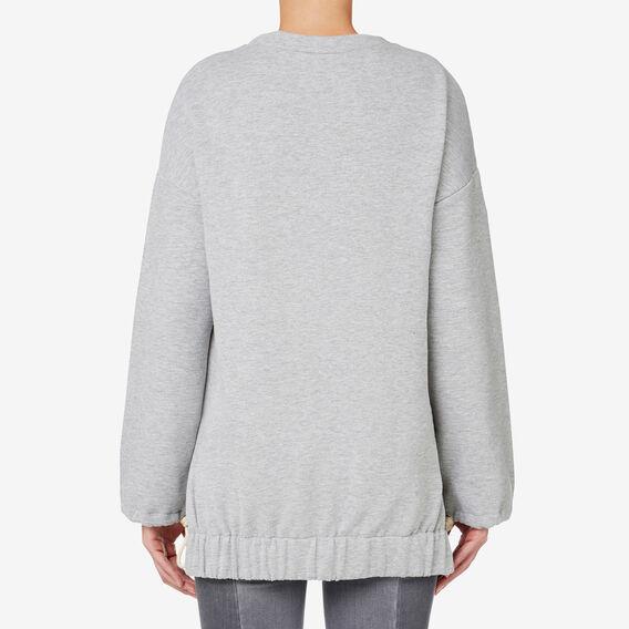 Drawcord Sweater  MID GREY MARLE  hi-res