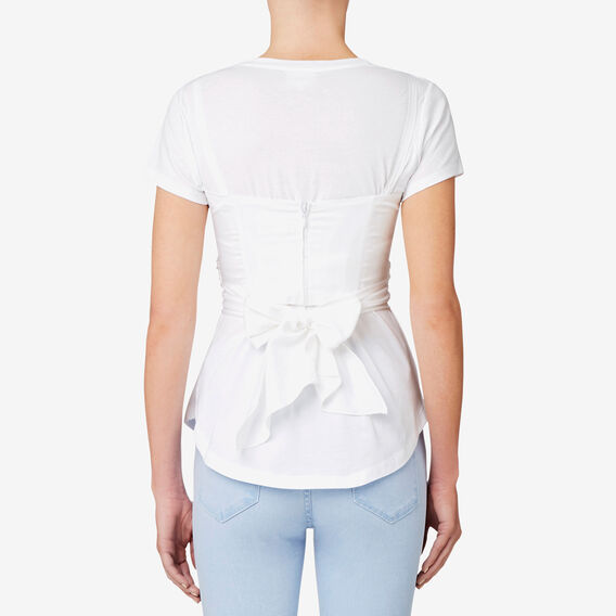 Bustier Tee  BRIGHT WHITE  hi-res