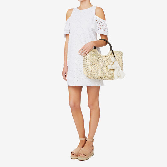Broderie Dress  BRIGHT WHITE  hi-res