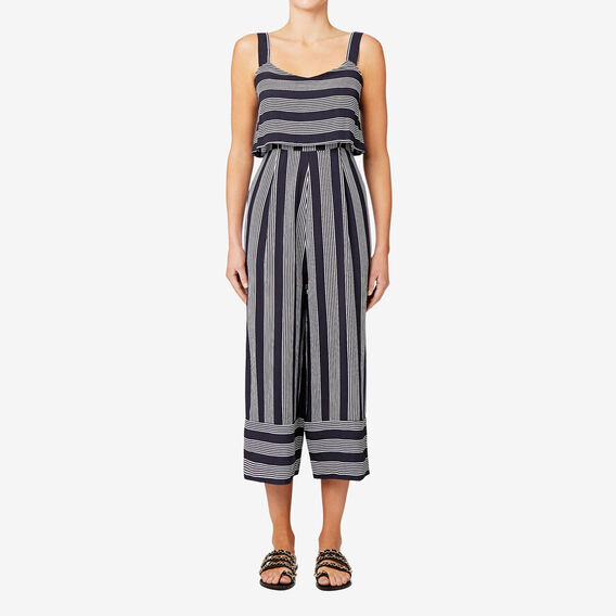 Variegated Stripe Jumpsuit  STRIPE  hi-res