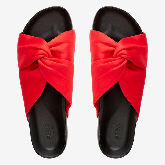 Candice Knot Slide  ROYAL RED  hi-res