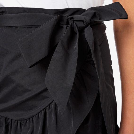 Wrap Frill Skirt  BLACK  hi-res
