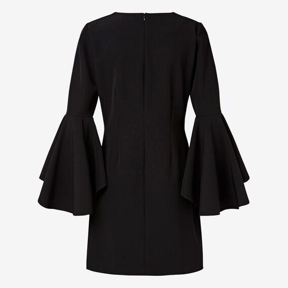 Flare Sleeve Dress  BLACK  hi-res