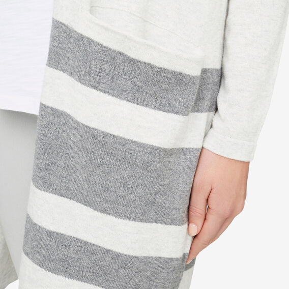 Tonal Colour Block Cardigan  LIGHT GREY MARLE  hi-res
