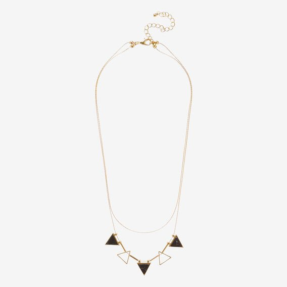 Shape Feature Necklace  GOLD  hi-res