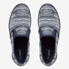 Various Stripe Slip On  NAVY  hi-res
