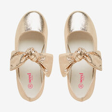 Oversized Bow Ballet  GOLD  hi-res