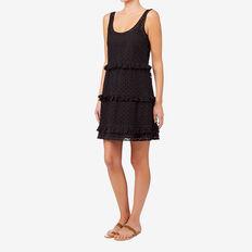 Tiered Frill Dress  BLACK  hi-res