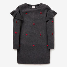 Ladybug Knit Dress  SHADOW MARLE  hi-res