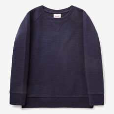 Quilted Sweater  MIDNIGHT BLUE  hi-res