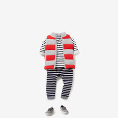 Spliced Stripe Pant  VINTAGE WHITE  hi-res