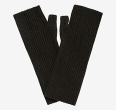 Rib Fingerless Gloves  BLACK  hi-res