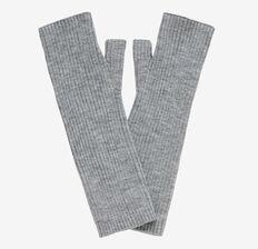 Rib Fingerless Gloves  GREY MARLE  hi-res